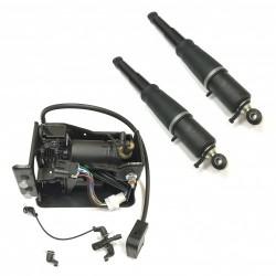 Комплект задних амортизаторов и компрессор AirBagit для Chevrolet Tahoe GMT840 (2000-2006)
